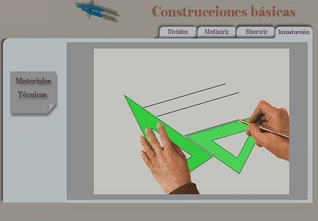 Ejemplo de como utilizar la escuadra y el cartabón para hacer líneas paralelas. Imágen de algomasquetecnologia.blogia.com