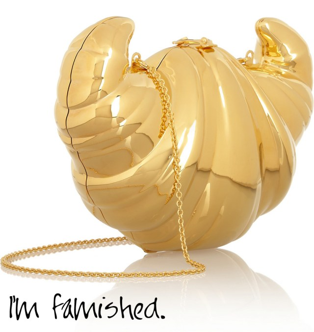 Charlotte-O4CHARLOTTE OLYMPIA Croissant gold-plated clutch