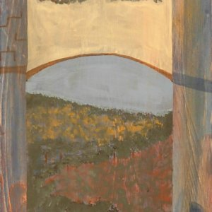 Mixed media Italy Window countryside arch