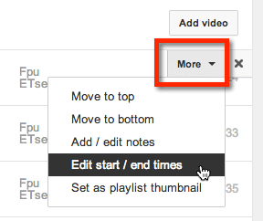 hover over video