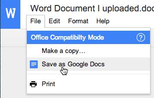 file save as google docs