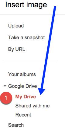 Insert Google Drive My Drive Image
