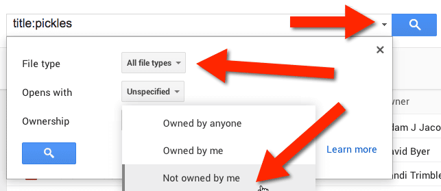 ownership google drive