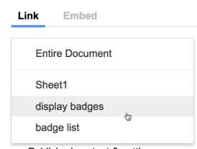 Embed google sheets display badges alice keeler