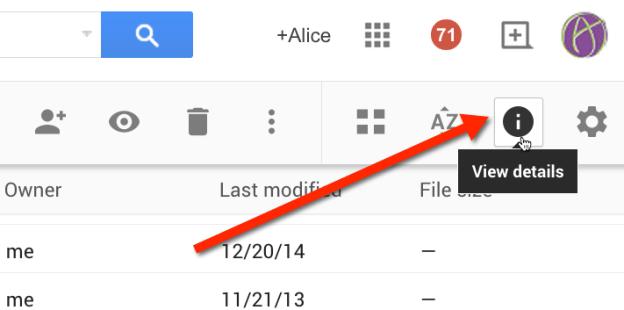 Google Info Icon