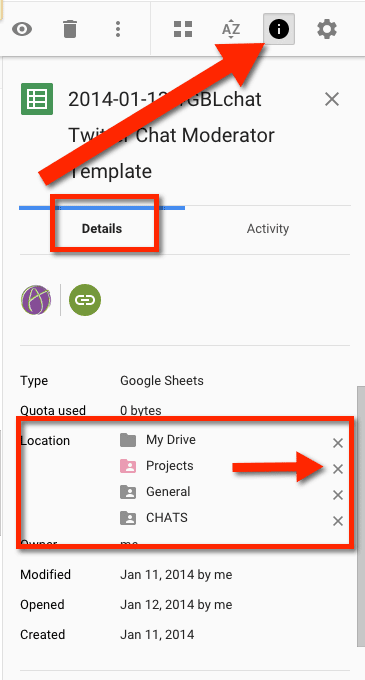 Details Pane Location of folders