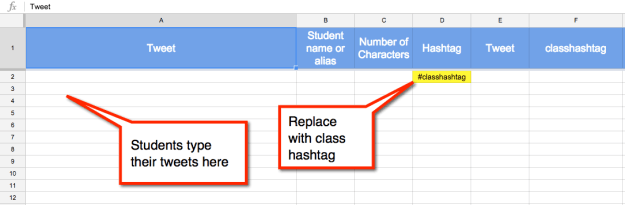 Spreadsheet to Tweet