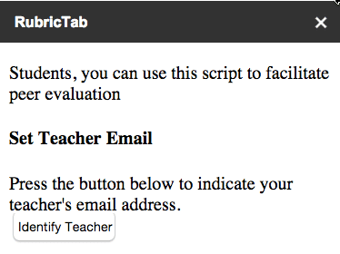 Teacher email button
