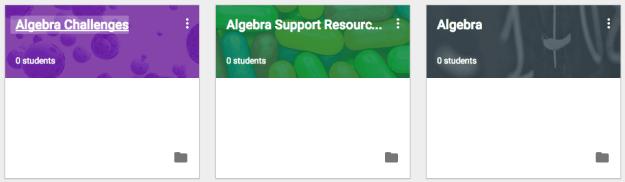 Multiple classes for Algebra