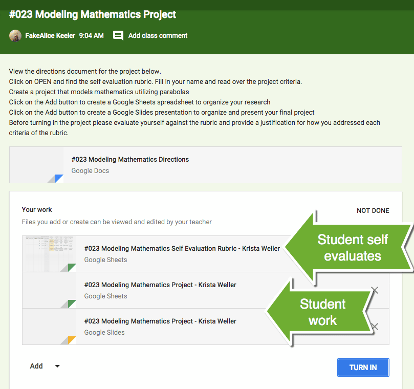 how to create an assignment document library for each student