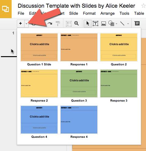 google slides discussion template teacher tech. Black Bedroom Furniture Sets. Home Design Ideas