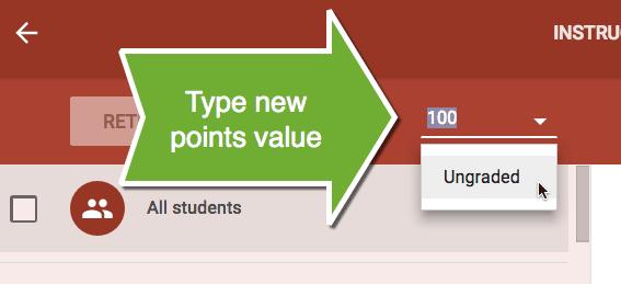New points value google classroom