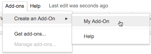 Add On Menu create an add on