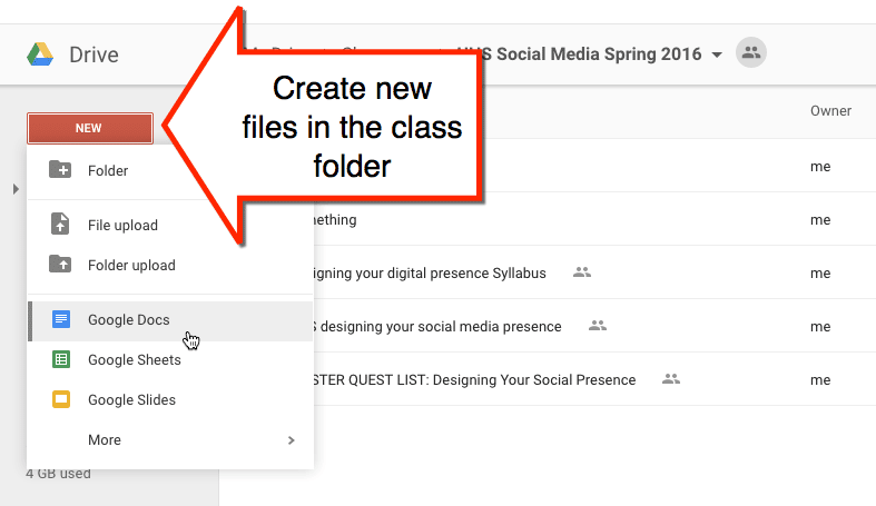 Google Drive folder add files