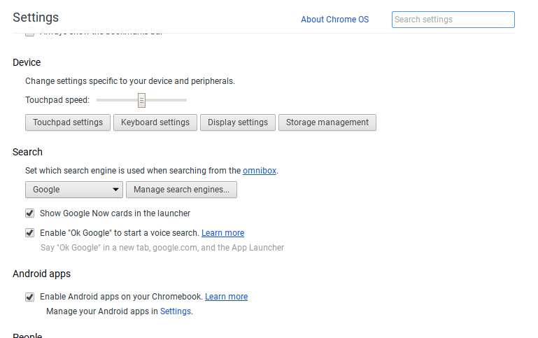 Enable Chrome Apps