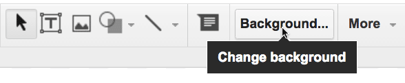 background button in Google Slides