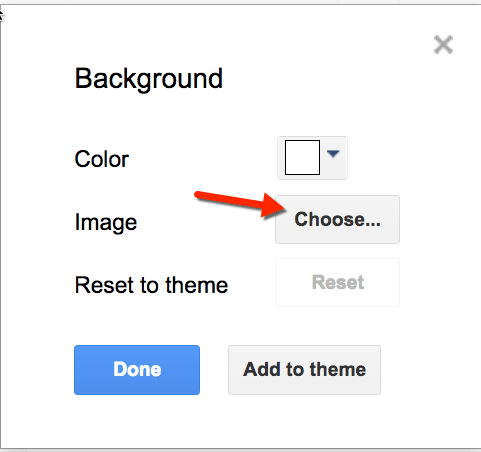 background image lock down google slides