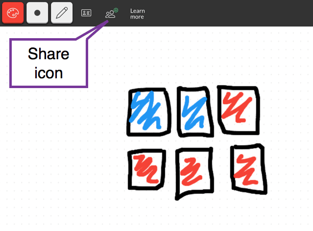 share icon on aww whiteboard