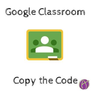 Google Classroom Copy the Code