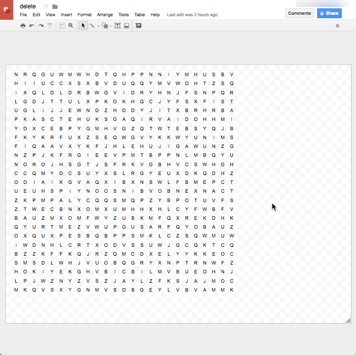 pasted puzzle into a google drawing