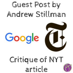 Andrew Stillman critique of NY Times Google in Education