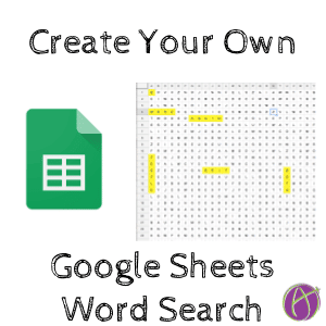 Make Your Own Word Search in Google Sheets