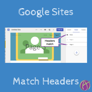 New Google Sites: Match Page Headers