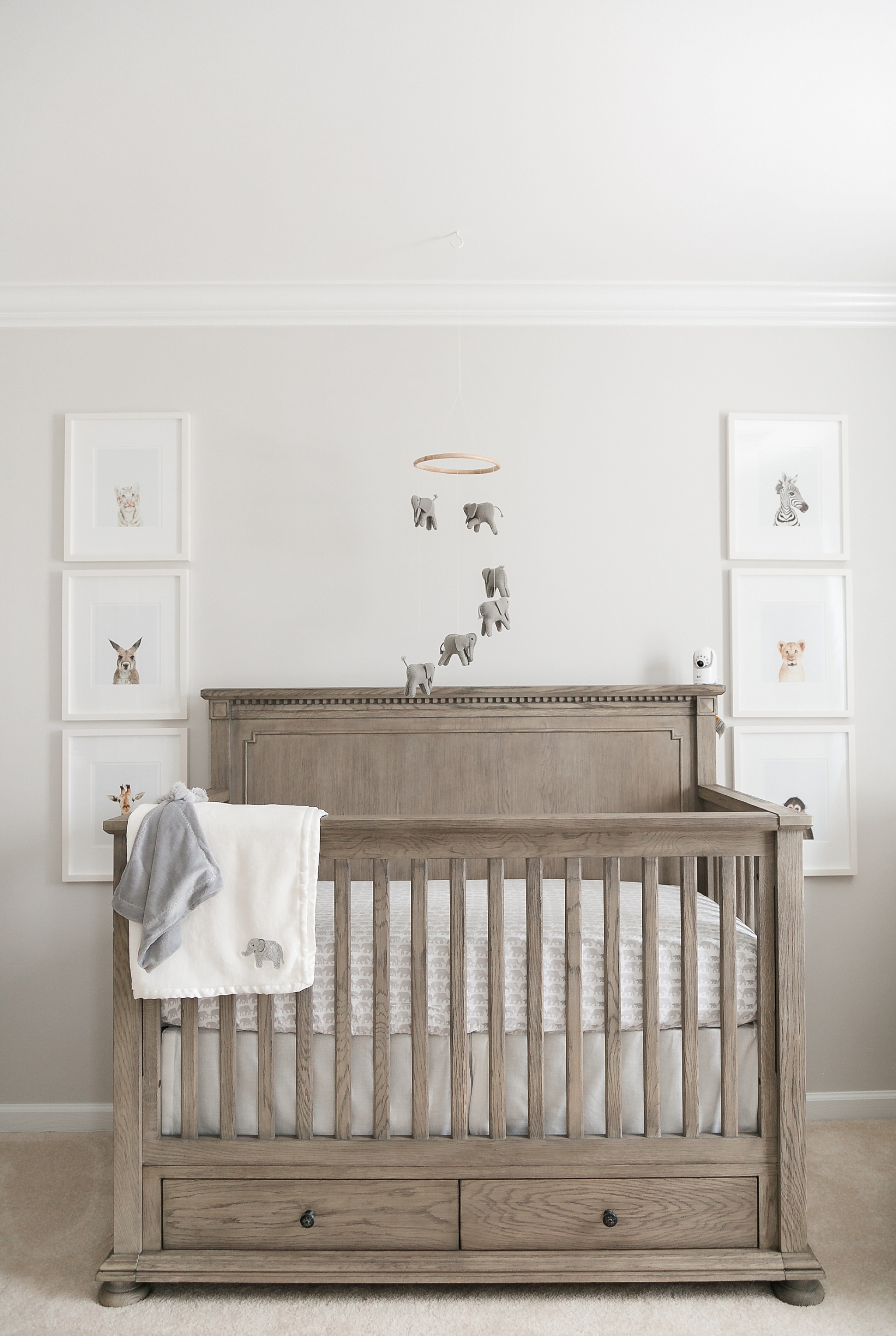 Ideal Blue Nursery A Baby Boy Features Restorationhardware Our Baby Grey Elephant Nursery Baby Boy Nursery Fabric Baby Boy Nursery Decor An This Grey baby shower Baby Boy Nursery