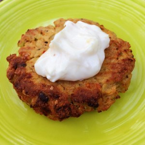 Salmon Cake with Roasted Garlic Aioli
