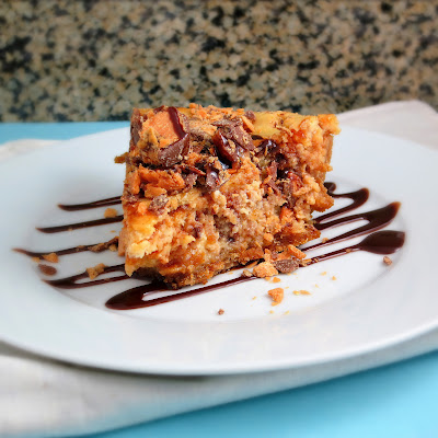 easy peanut butter butterfinger cheesecake pie