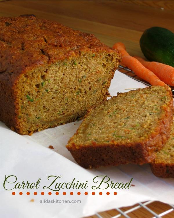 Carrot Zucchini Bread | alidaskitchen.com #recipes