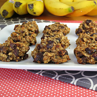 healthy banana cookies vegan dates oats