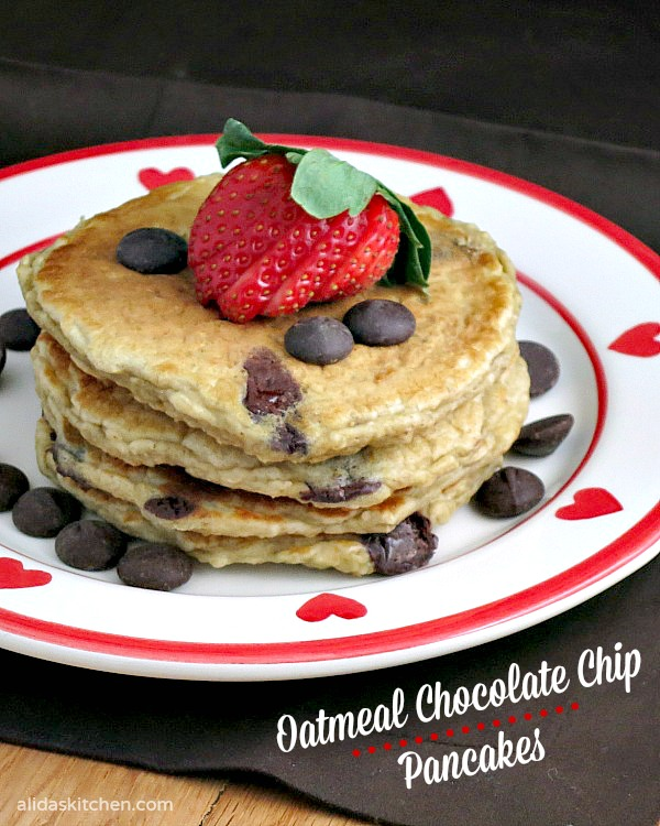 Oatmeal Chocolate Chip Pancakes are a hearty oatmeal buttermilk ...