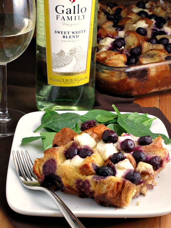 Overnight Blueberry Baked French Toast | alidaskitchen.com #recipes #SundaySupper