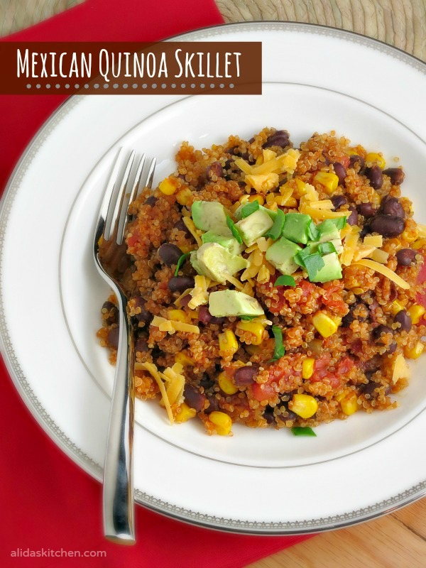 Mexican Quinoa Skillet is an easy, one-pot meal using common pantry ...