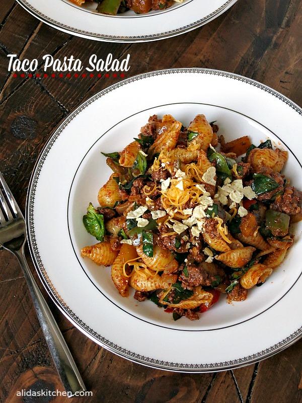 Taco Pasta Salad | alidaskitchen.com