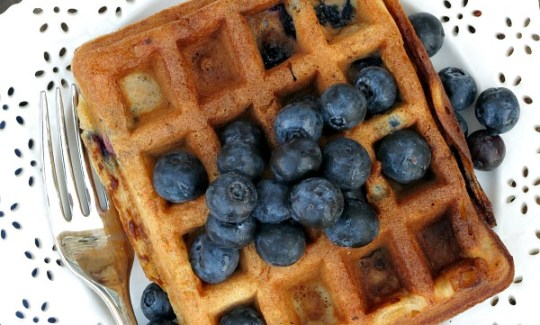 Blueberry Buttermilk Waffles #SundaySupper