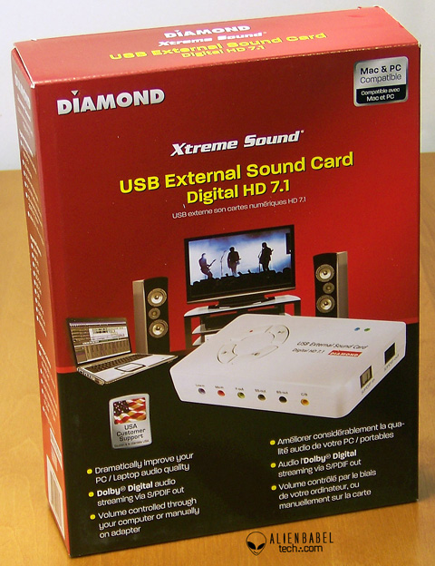 TheBox 1 Diamonds Xtreme Sound External digital HD 7.1 Sound Card review