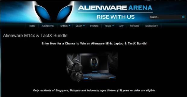 Alienware M14X & Tactx Bundle