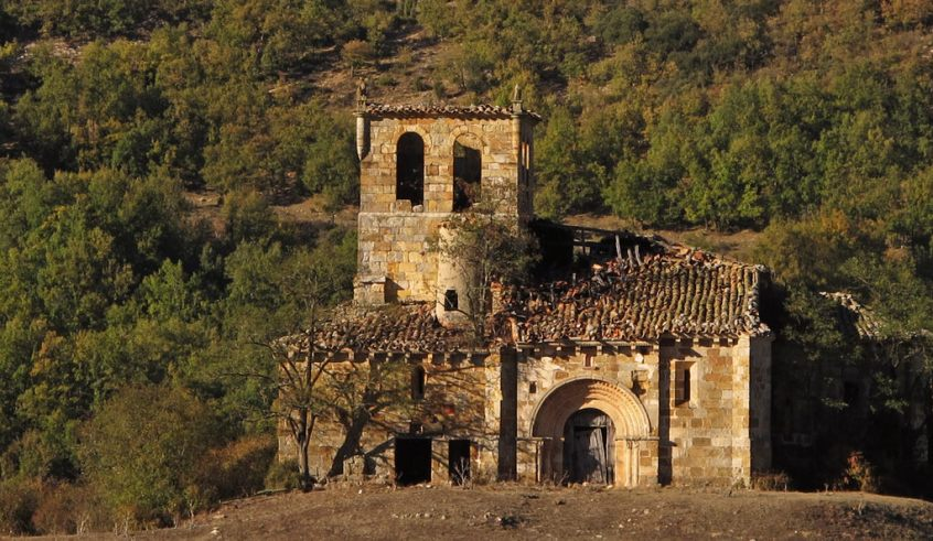 The church of Huidobro in Spain