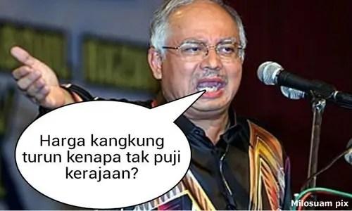 Najib and kangkung