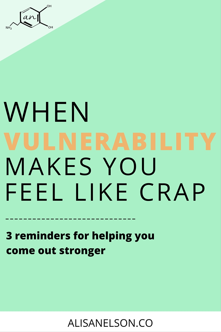 "Vulnerability is a skill. Brene Brown tells us it's essential to the creative process but what do you do when that ""process"" leaves you feeling awful? Seeing yourself as you are - someone who always has room to grow - requires remembering these three things. You got this, girlboss. More at: http://alisanelson.co"