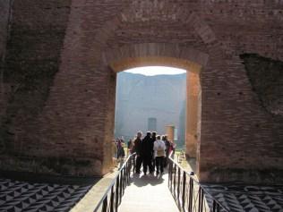 Bridge into archway