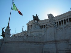 Victor Emmanuel and the 'wedding cake' monument