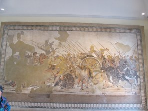 Mosaic showing Alexander the Great fighting Darius III of Persia - From the House of the Faun, Pompeii