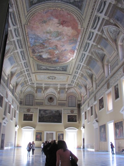 Richly decorated display hall, Naples Museum