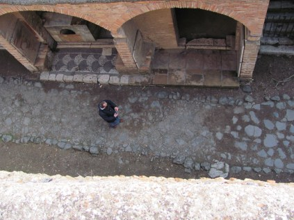 View from above the thermopolium