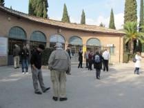 Waiting outside the St Sebastian Catacombs