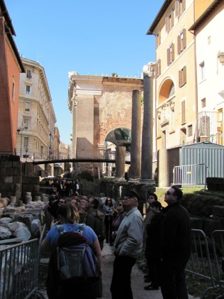 At the Portico Ottavia - The entry to the Jewish quarter