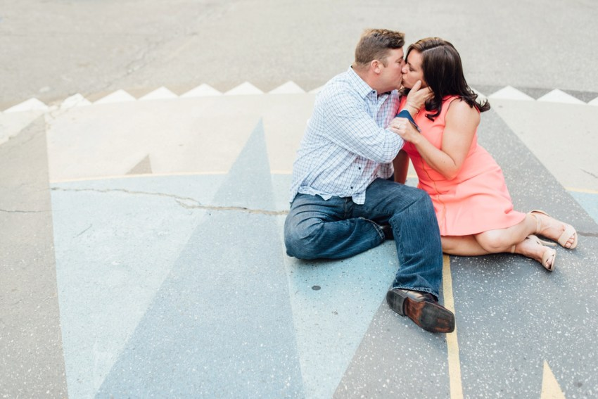 Lisa + Brian - Dilworth Park - City Hall Philadelphia Engagement Session - Alison Dunn Photography photo